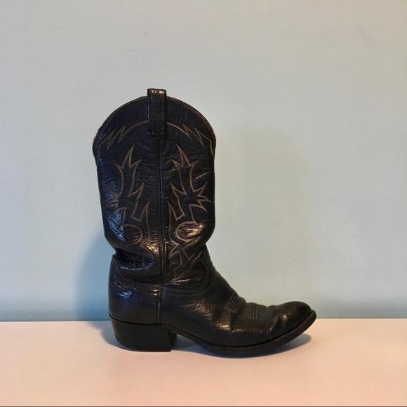 5af60c8062e Authentic Tony Lama 6283 Black Label Cowboy Boots